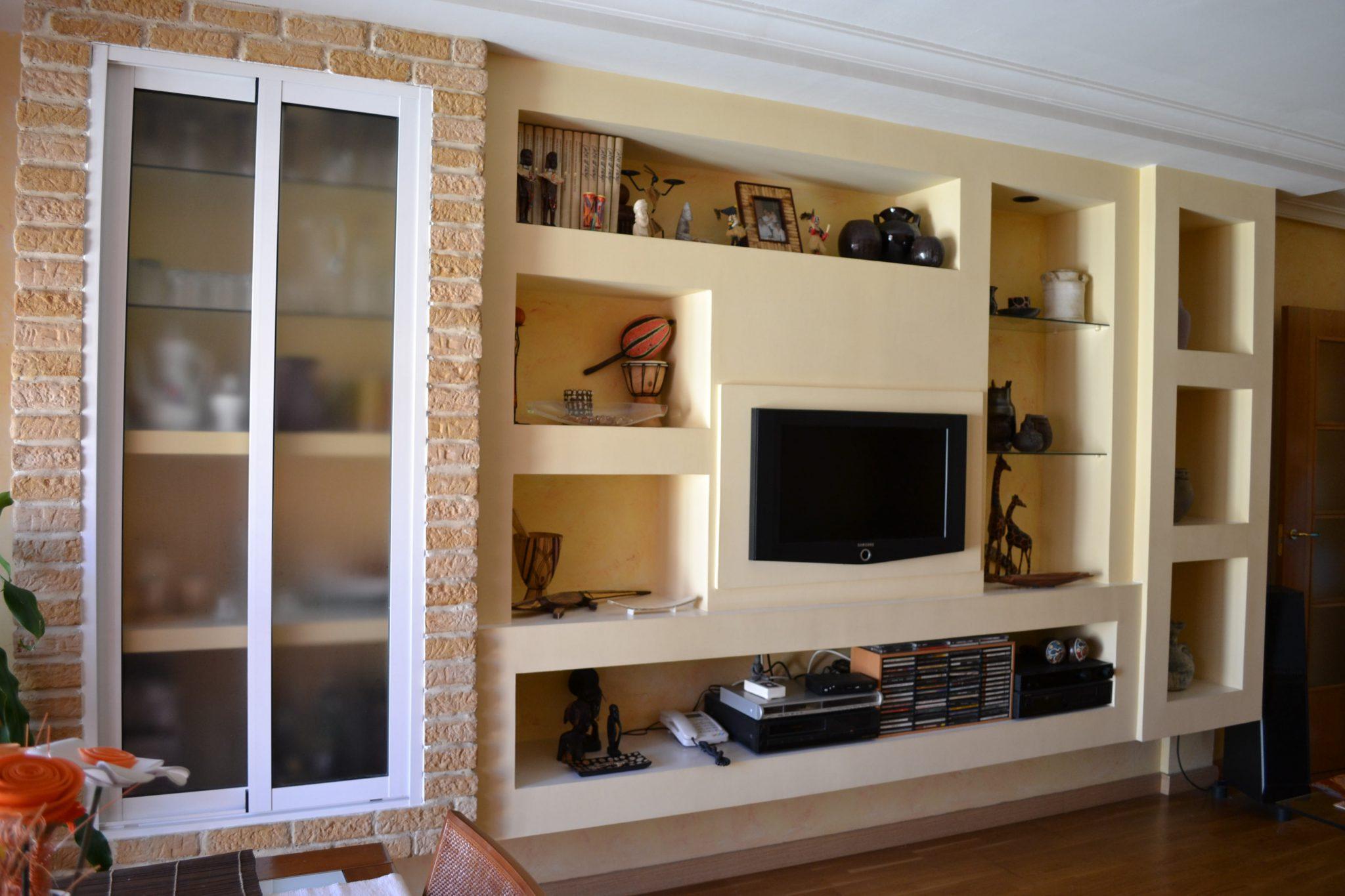 Reformas pladur busca y decora for Muebles de pladur para salon fotos