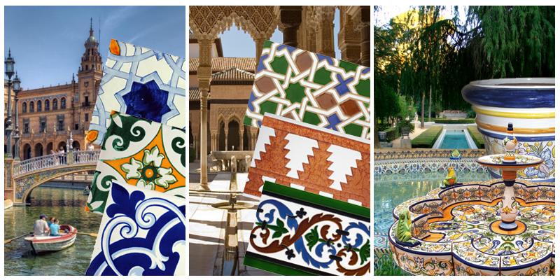 Azulejos artesanos y cer mica sevillana pintada a mano - Copia de azulejos ...
