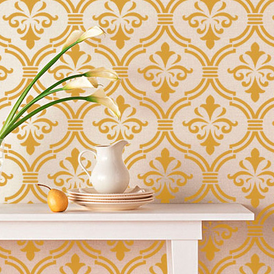 Stencils y pinturas para decorar paredes telas y muebles for Plantillas para decorar muebles